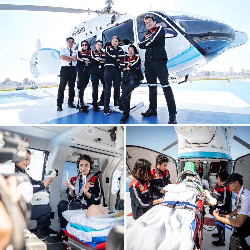 รพ.กรุงเทพ มุ่งเน้นมาตรฐานความปลอดภัยการเคลื่อนย้ายผู้บาดเจ็บวิกฤต