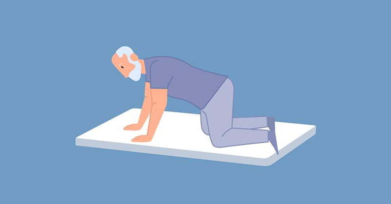 ซ้อมล้มฝึกลุกผู้สูงอายุไม่โคม่า