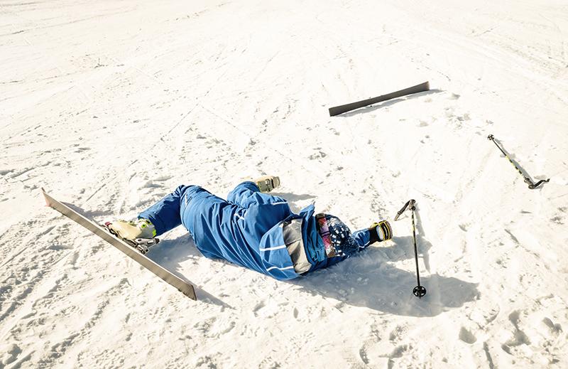 สกี, อุบัติเหตุ, เจ็บเข่า